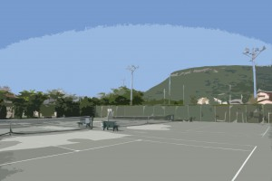 屋島PPK(ぴんぴんころり)お花見テニス親睦会
