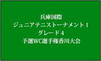 2017 兵庫国際ジュニアテニストーナメントⅠ(グレード4) 予選WC選手権香川大会